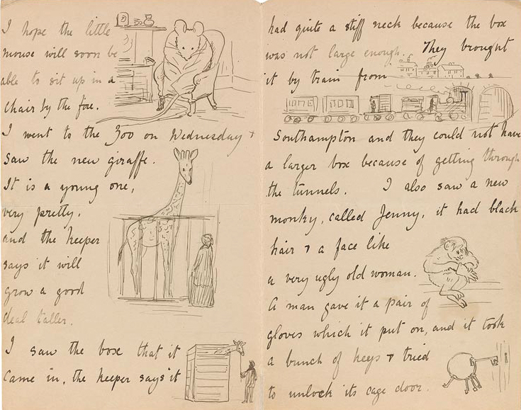 Illustrated letter by Beatrix Potter, 1895