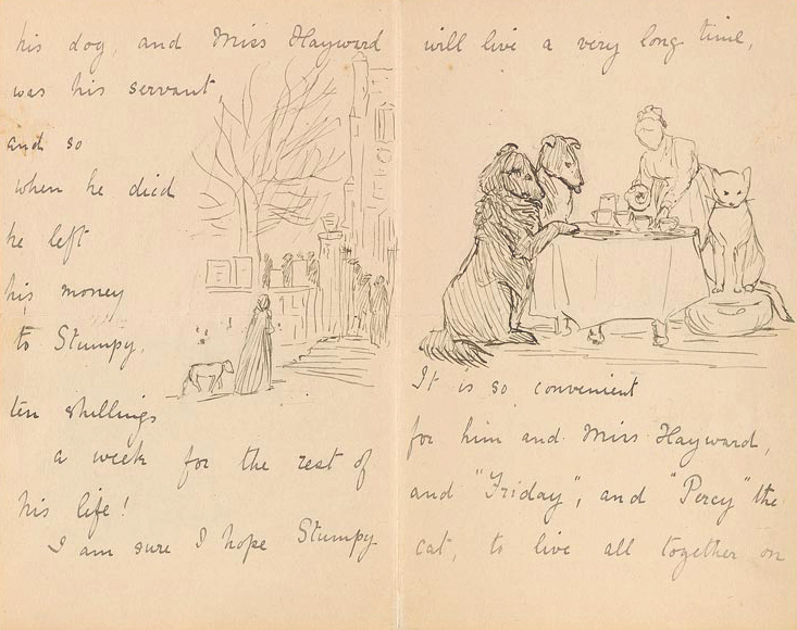 Illustrated letter by Beatrix Potter, 1898