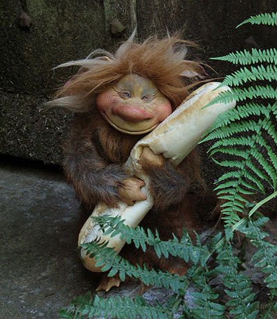 Troll with Bread by Wendy Froud
