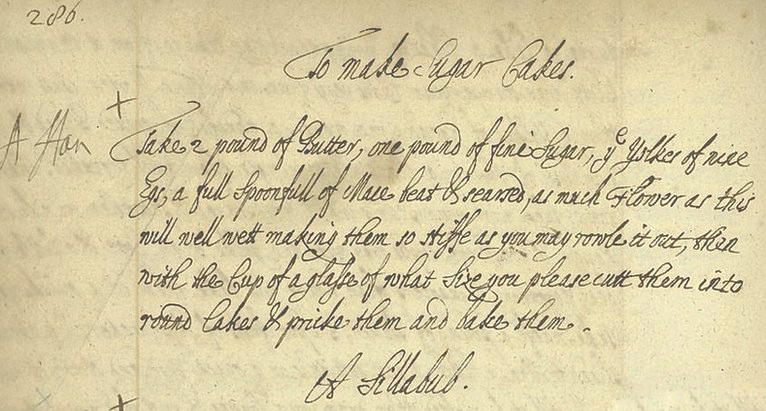 17th century sugar pie recipe