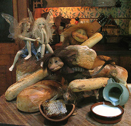 ''Faeries in the Kitchen'' by Wendy Froud