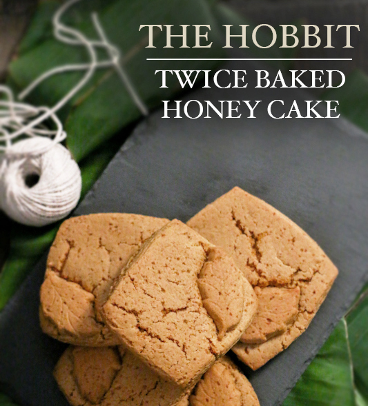 Twice Baked Honey Cake from the Food in Literature blog