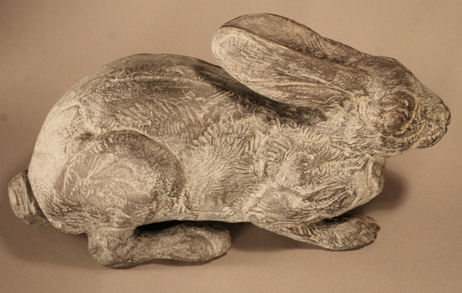 Desert cottontail sculpture by Mark Rossi