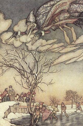 Jack Frost by Arthur Rackham