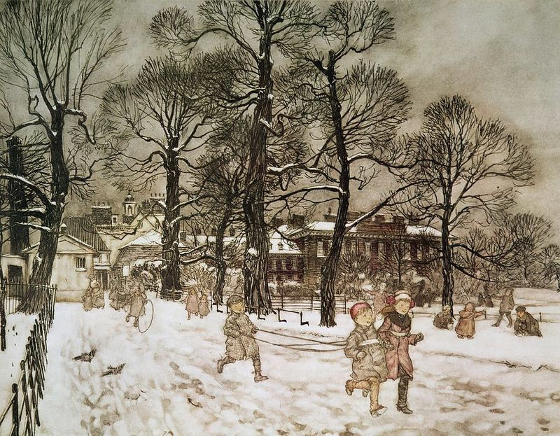 Winter in Kensington Garden by Arthur Rackham