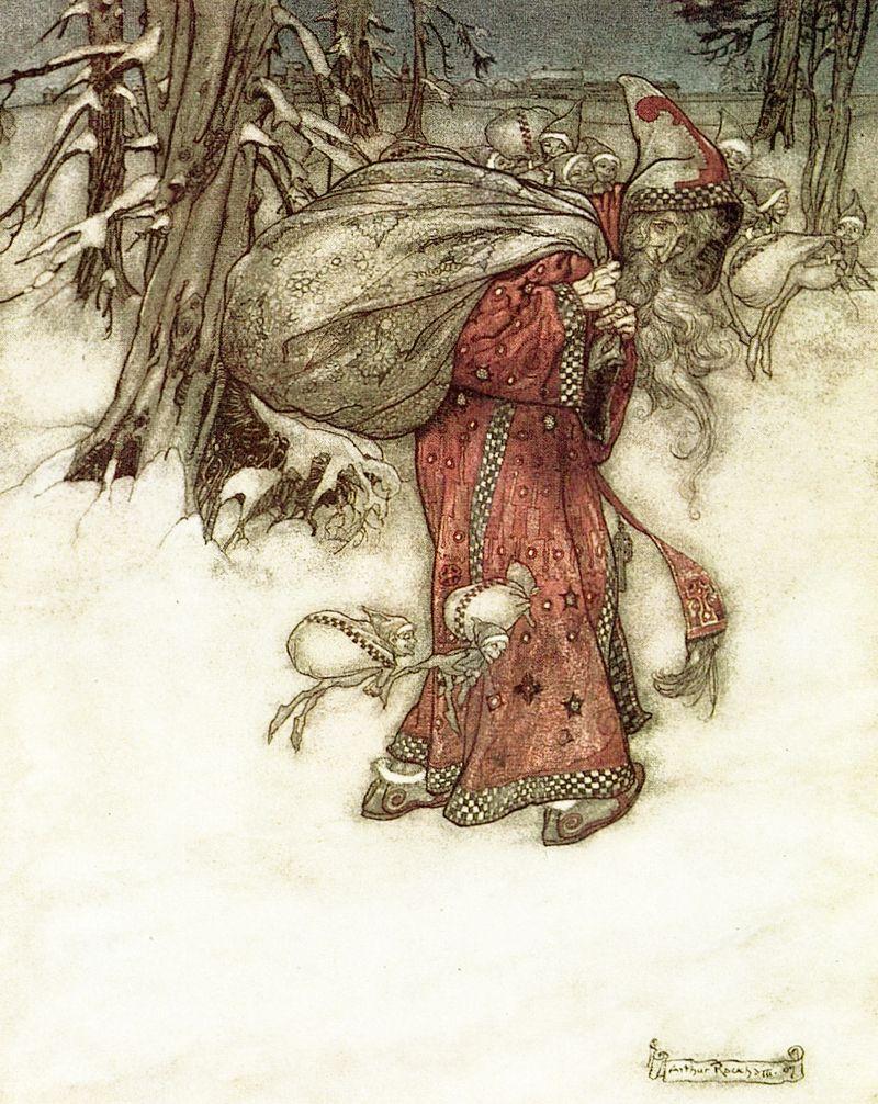 Santa Claus by Arthur Rackham