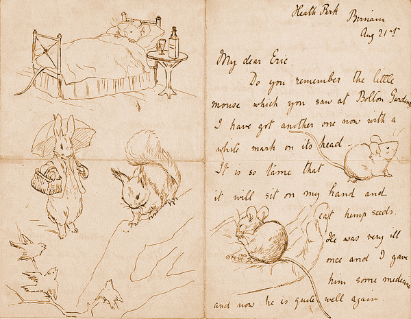 Illustrated letter by Beatrix Potter, 1892