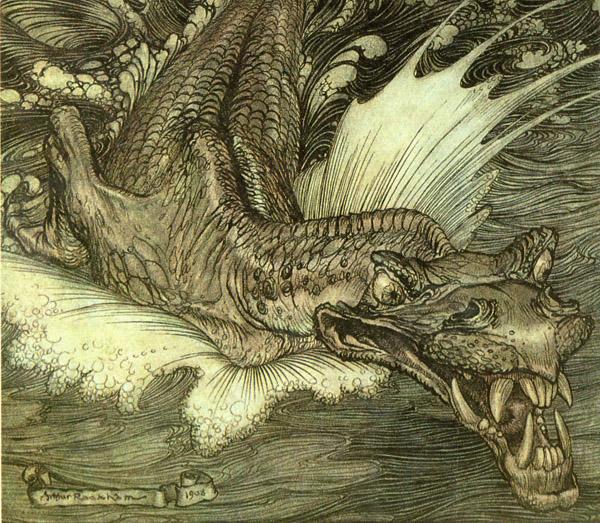 Leviathan by Arthur Rackham