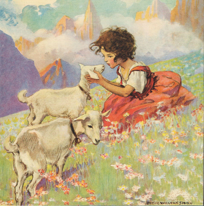 Heidi and the Goats by Jessie Wilcox Smith