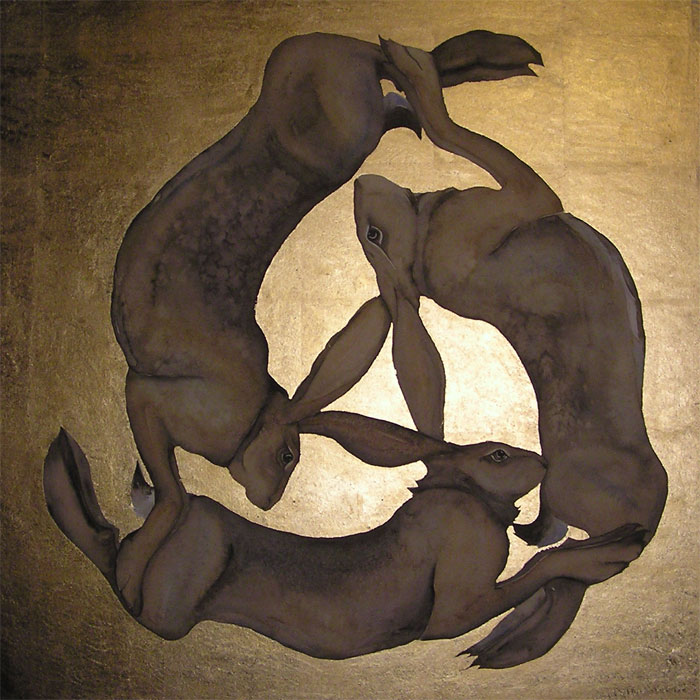 Three Hares by Jackie Morris