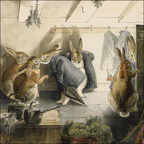 The Rabbit's Christmas Party by Beatrix Potter