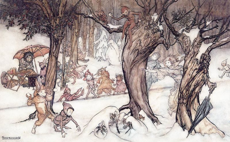 Winter Wood by Arthur Rackham