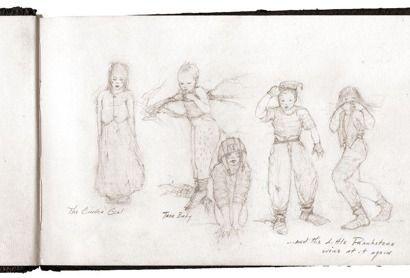 Sketchbook page, Terri Windling